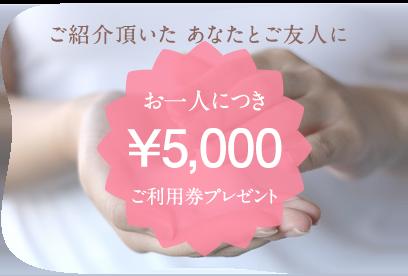 5000円ご利用券プレゼント